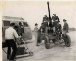Apparantly WEWS Crew with Bob Neal and unidentified Army crew 1940's JCU Collection