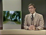 TV 8, Dale Solly doing news 1981