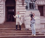 Mystery crew in front of Cleveland City Hall 1980's