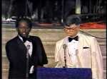 TV 3 weatherman Al Roker and Theater owner John Price at 1980 Emmy Awards