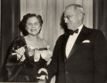 Dorothy Fuldheim with President Harry S Truman
