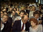 Ed Cervenak and Dorothy Fuldheim in crowd at 1980 Emmy Banquet