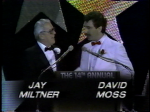 Long-time TV3 announcer Jay Miltner and David Moss then of WKYC at EMmys