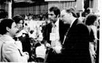 John Hambrick and Ron Bilek of WEWS with Ohio delegates at 1972 Dem. Convention