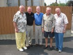 Fox 8 retirees, Bob Cerminara, Dan Coughlin, Bob Wilkinson, Bill Wolfe, Neil Zurcher 2009