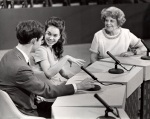 Dorothy Fuldheim with David and Julie Nixon Eisenhower