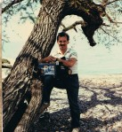 TV8 Photog Bill West on assignment in 1983