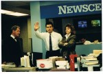 Bob Cerminara, Vince Cellini, Phyllis Quail 1983 in Newscenter 8 Newsroom