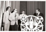 Fred Griffith, WEWS, Bob Huber, WJW (With Emmy), Jim Doney and Tim Conway at Emmy Awards in early 1970's