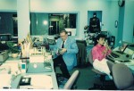 Kristy Steeves and Neil Zurcher in TV8 Newsroom 1984
