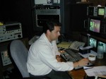 "2000 Video Editor Phil Noftz in ""Solo"" editing room at Fox 8"