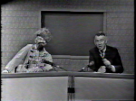 Ernie Anderson of WJW interviewing Ghoulardi, his alter ego in 1960's