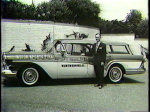 WJW Sports Anchor John Fitzgerald with his company car