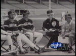 WEWS Wilma Smith and Nev Chandler interviewing Cleveland Indians 1980's