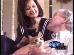 Julie-Ann Cashel and Dick Goddard in their Westlake Home in 1980's